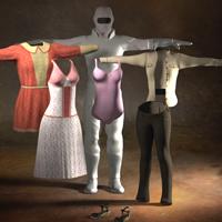 Poser付属の衣服